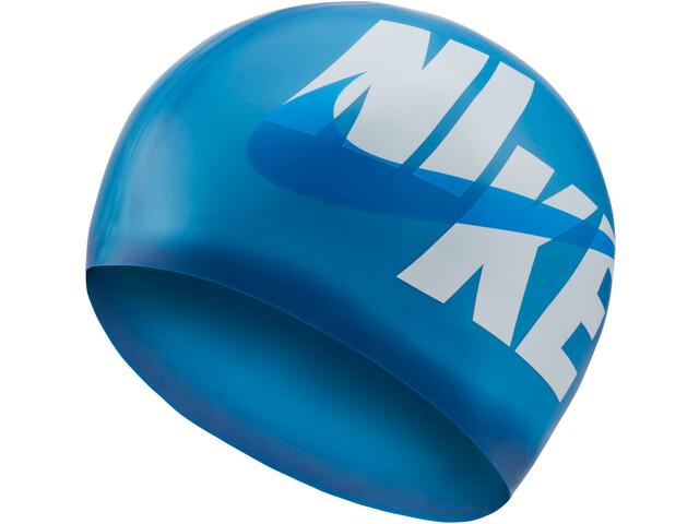 Nike Swim Logo Gorro de silicona, deep royal blue